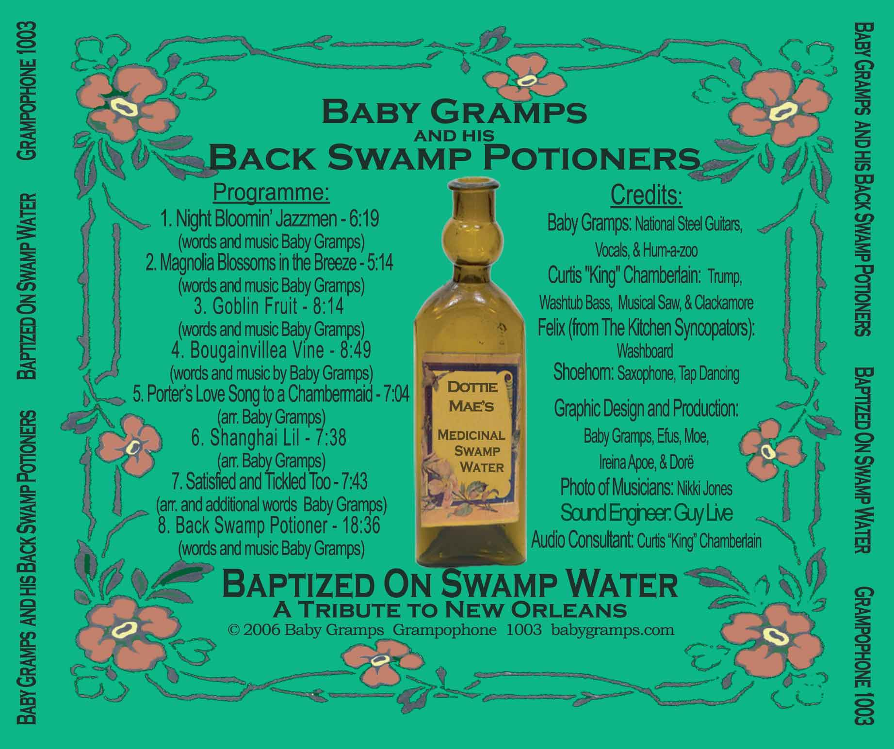 Track List - Baptized On Swamp Water